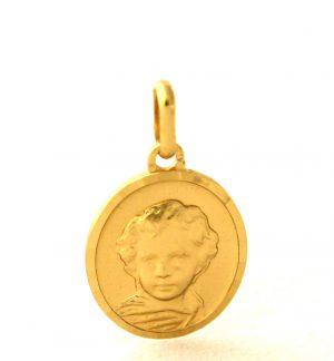Chérubin - Médaille ovale en plaqué or