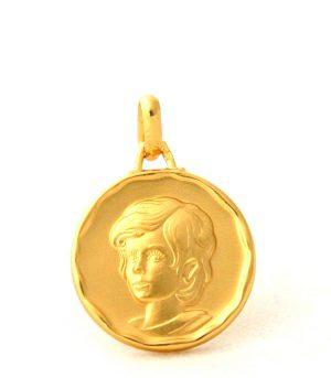 Chérubin - Médaille ronde en plaqué or