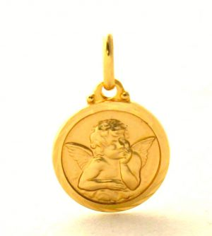 Ange Raphaël - Médaille ronde en plaqué or