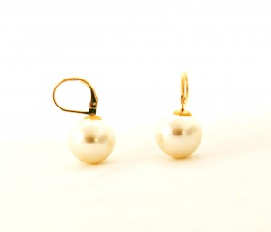 Pendantes perlées - Boucles d'oreilles plaqué or