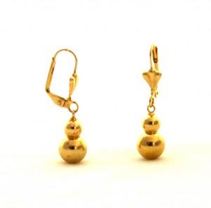 Boules pendantes - Boucles d'oreilles plaqué or