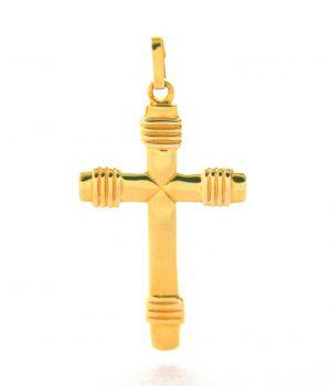 Croix latine en plaqué or