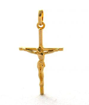Christ en croix en plaqué or