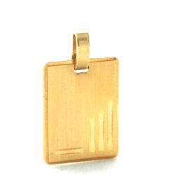 Plaque rectangle à graver en plaqué or – Gravure gratuite