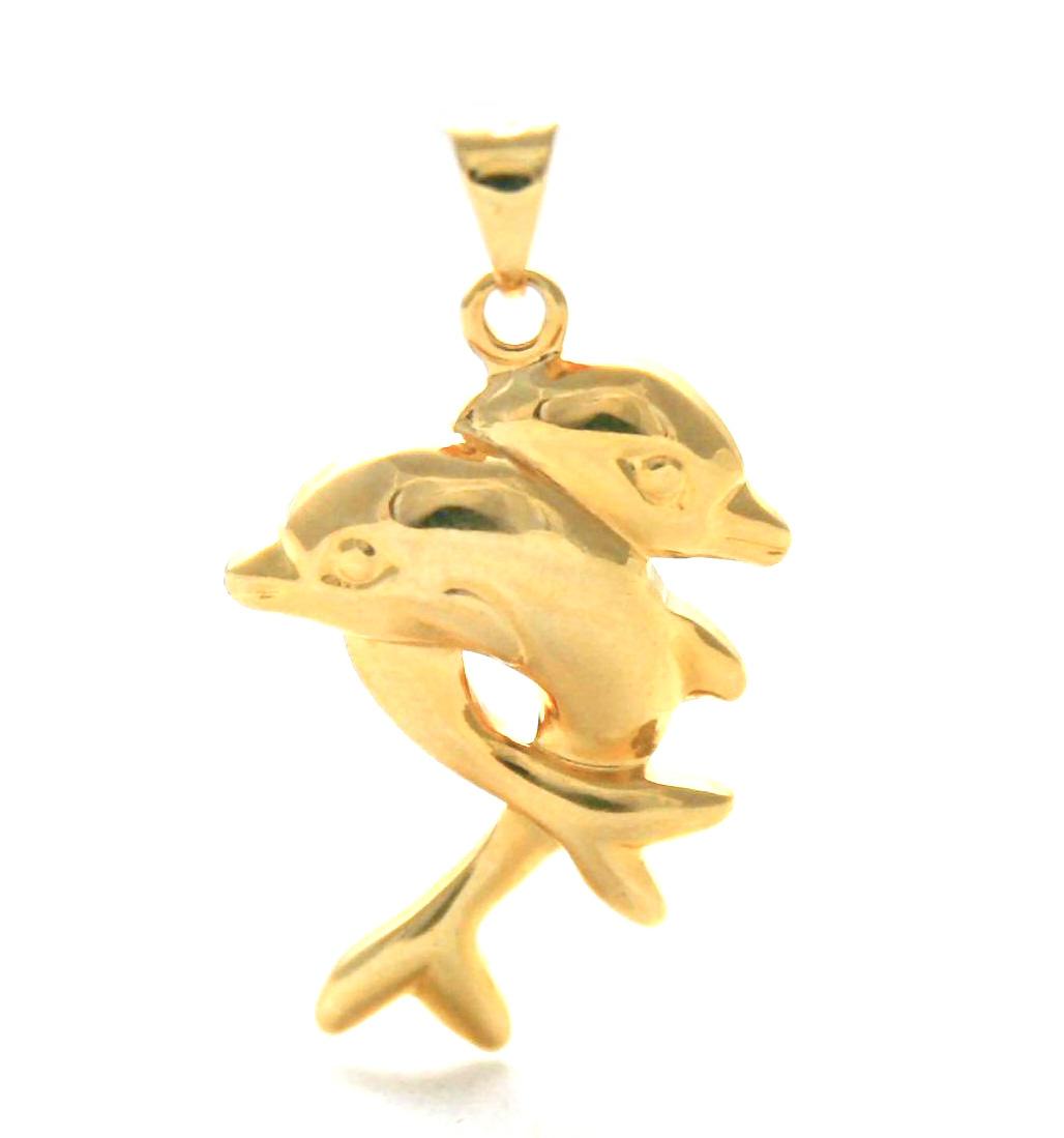 Duo de dauphin en plaqué or