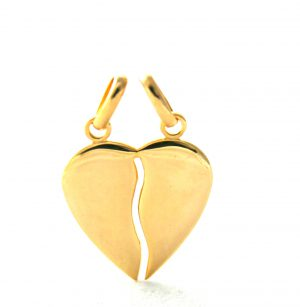 Coeur sécable 20 mm en plaqué or