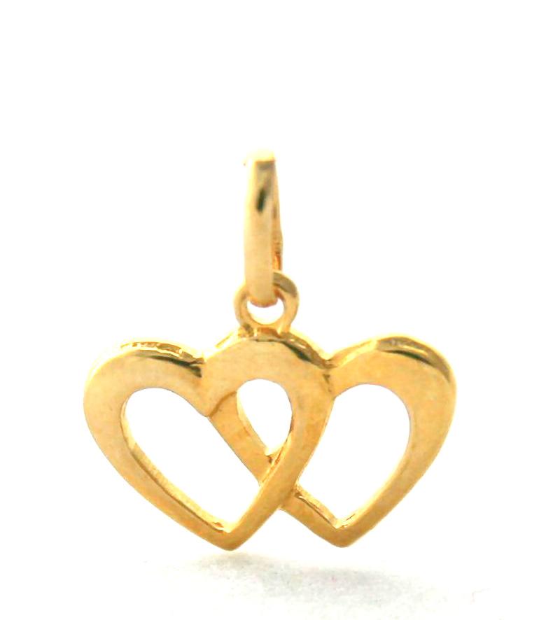 Duo de coeur en plaqué or