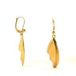 Pendantes effet drapé – Boucles d'oreilles en plaqué or