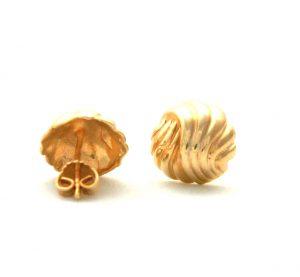 Boucles d'oreilles rondes torsadées en plaqué or