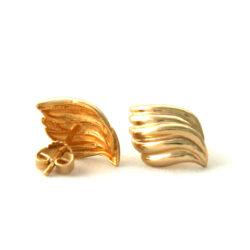 Boucles d'oreilles losanges torsadées en plaqué or