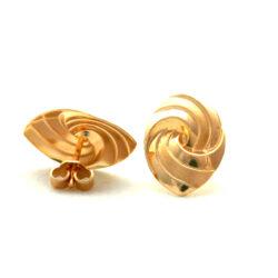 Boucles d'oreilles ovales torsadées en plaqué or