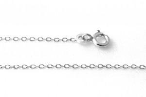 Chaîne en argent 50 cm - Mailles très fines forçat limée 1,2 mm