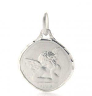 Ange Raphaël losange Augis- Médaille en or blanc 750/1000