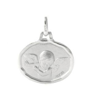 Ange ovale Augis - Médaille en or blanc 750/1000