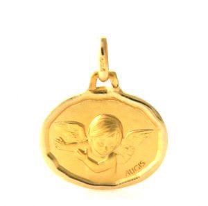Ange Ovale Augis - Médaille en or 750/1000