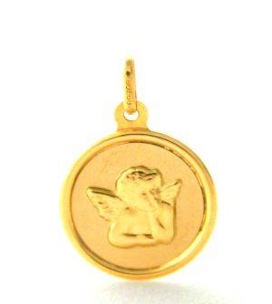 Ange Raphaël en relief Argyor - Médaille Ronde en or 750/1000