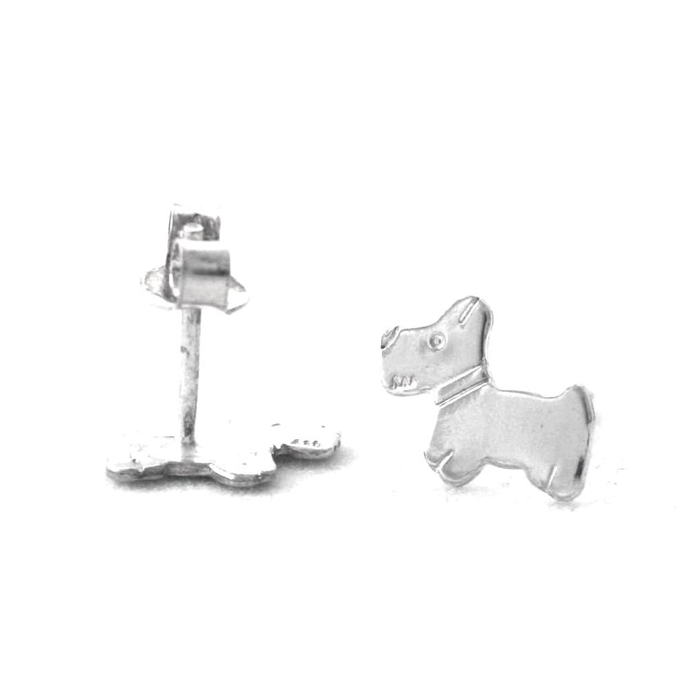 Puces chien – Boucles d'oreilles Argent 925/1000
