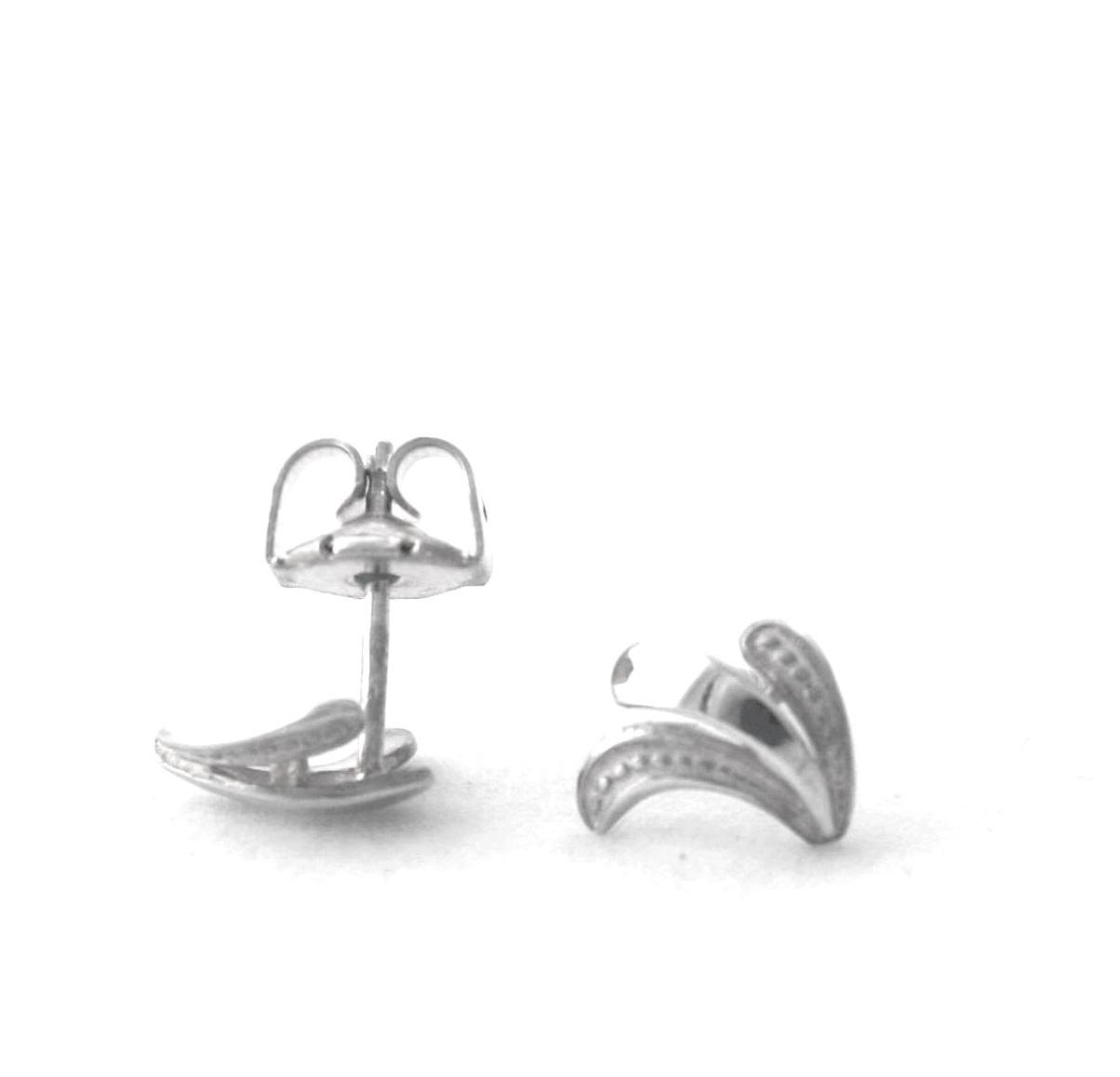 Puces mouchetées et lisses Argent 925/1000 – Boucles d'oreilles