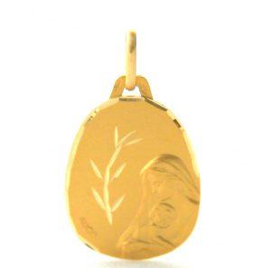 Vierge à l'enfant au rameau Augis - Médaille en or 750/1000