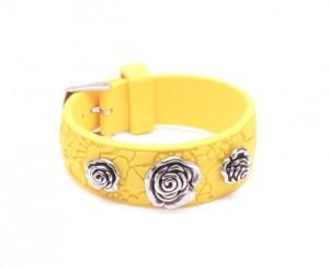Bracelet femme caoutchouc jaune - Miss Sixty