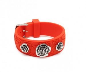 Bracelet femme caoutchouc orange - Miss Sixty