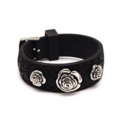 Bracelet femme caoutchouc noir – Miss Sixty