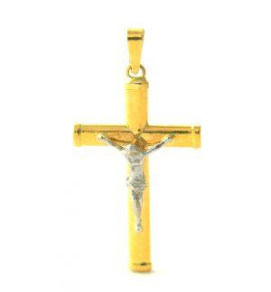 Christ en croix bicolore - Or 750/1000