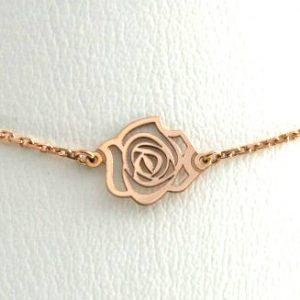 Collier ras du cou 42 cm - Or rose 750/1000