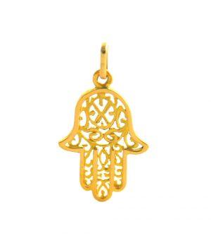 Pendentif main de Fatma ou Khamsa - Or 750/1000