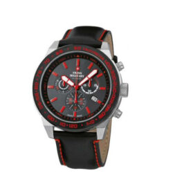 Swiss Military Montre homme chronographe noire & rouge