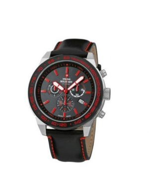 Montre homme chronographe noire & rouge - Swiss Military