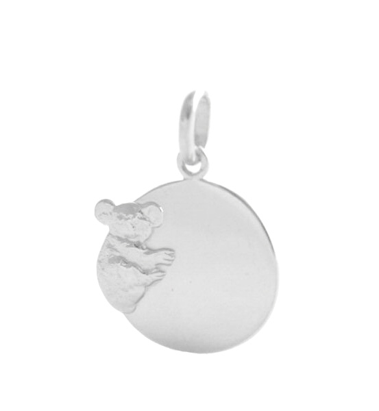 Médaille à graver Baby Koala Arthus-Bertrand – Or blanc 750/1000