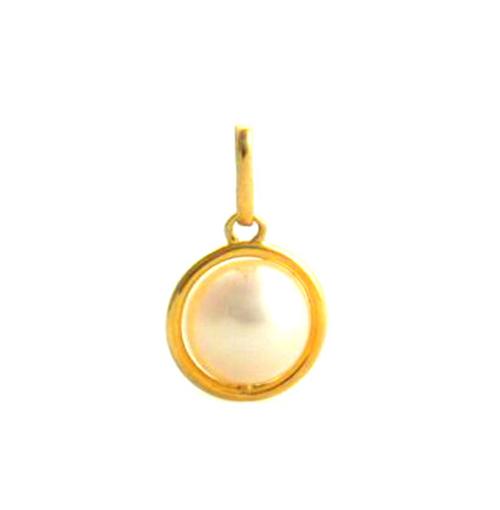 Pendentif Rambaud perle de culture d'eau douce 7 mm – Or 750/1000