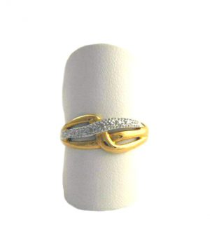 Bague Diamants - Or 375/1000 - Taille 56