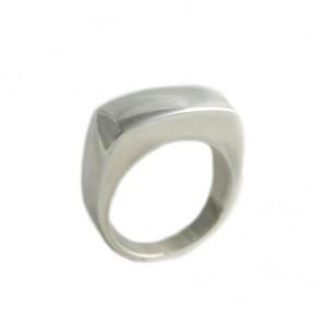 Chevalière GL rectangulaire argent 925/1000 - Taille 60