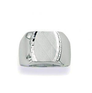 Chevalière GL tonneau argent 925/1000 - Taille 66