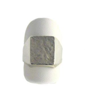 Chevalière tonneau argent 925/1000 - Taille 60