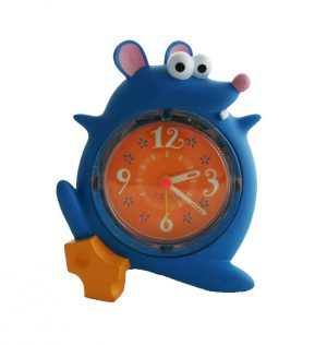 Réveil musical quartz souris bleue - Enfant