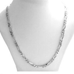 Collier chaîne mailles figaro 1/2 de 4,3 mm – Argent 925/1000 – 46 cm