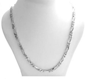 Collier chaîne mailles figaro 1/2 de 4,3 mm - Argent 925/1000 - 46 cm