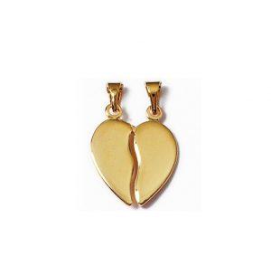 Petit coeur sécable en plaqué or