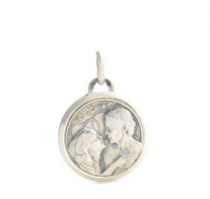 Médaille couple pour toujours en argent