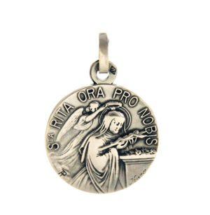 Sainte Rita – Médaille ronde en argent
