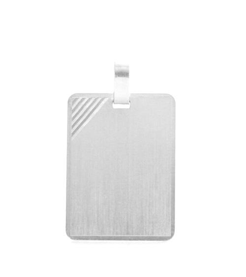 Plaque rectangle à graver Argent 925/1000 rhodié