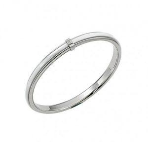 Bracelet femme acier inoxydable et céramique blanche - Cerruti