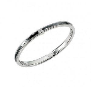 Bracelet femme en acier inoxydable et céramique noire - Cerruti