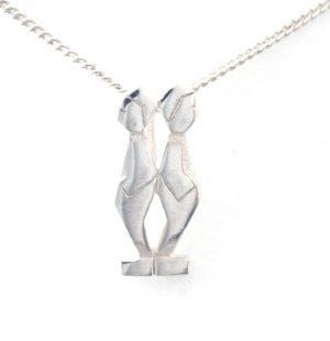 Collier pendentif Signe du Zodiaque Gémeaux en argent