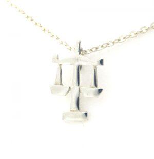Collier pendentif Signe du Zodiaque Balance en argent