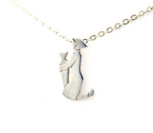 Collier pendentif Signe du Zodiaque Verseau en argent