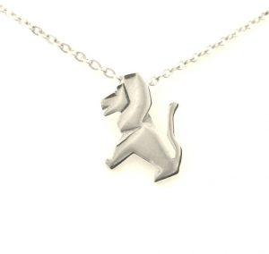 Collier pendentif Signe du Zodiaque Lion en argent